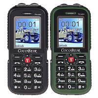 Противоударный Cocobeir A6 4000 мАч большой аккумулятор и фонарь на 2 сим-карты