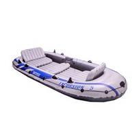 Пятиместная лодка Intex Excursion 68325 с насосом и веслами (366-168-43 см)