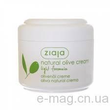 Натуральный оливковый крем легкая формула Ziaja 100 мл