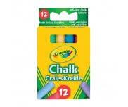 Мелки цветные с пониженным выделением пыли 12 штук 0281 Crayola