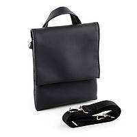 Мужская сумка Bred с клапаном черная, фото 1