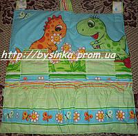 Карман с кармашками для кровати Зеленый