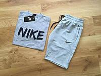 Набор футболка и шорты Nike, на лето. серый