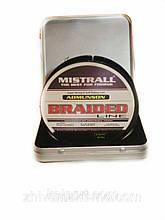 Универсальная рыболовная  плетенка Mistrall Admunson Braided Line green 135m материал полиэтилен