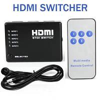 5-портовый HDMI switch свич селектор переключатель/переходник +пульт