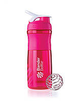 Розовая бутылка для води герметичная 820ML с стальным шариком