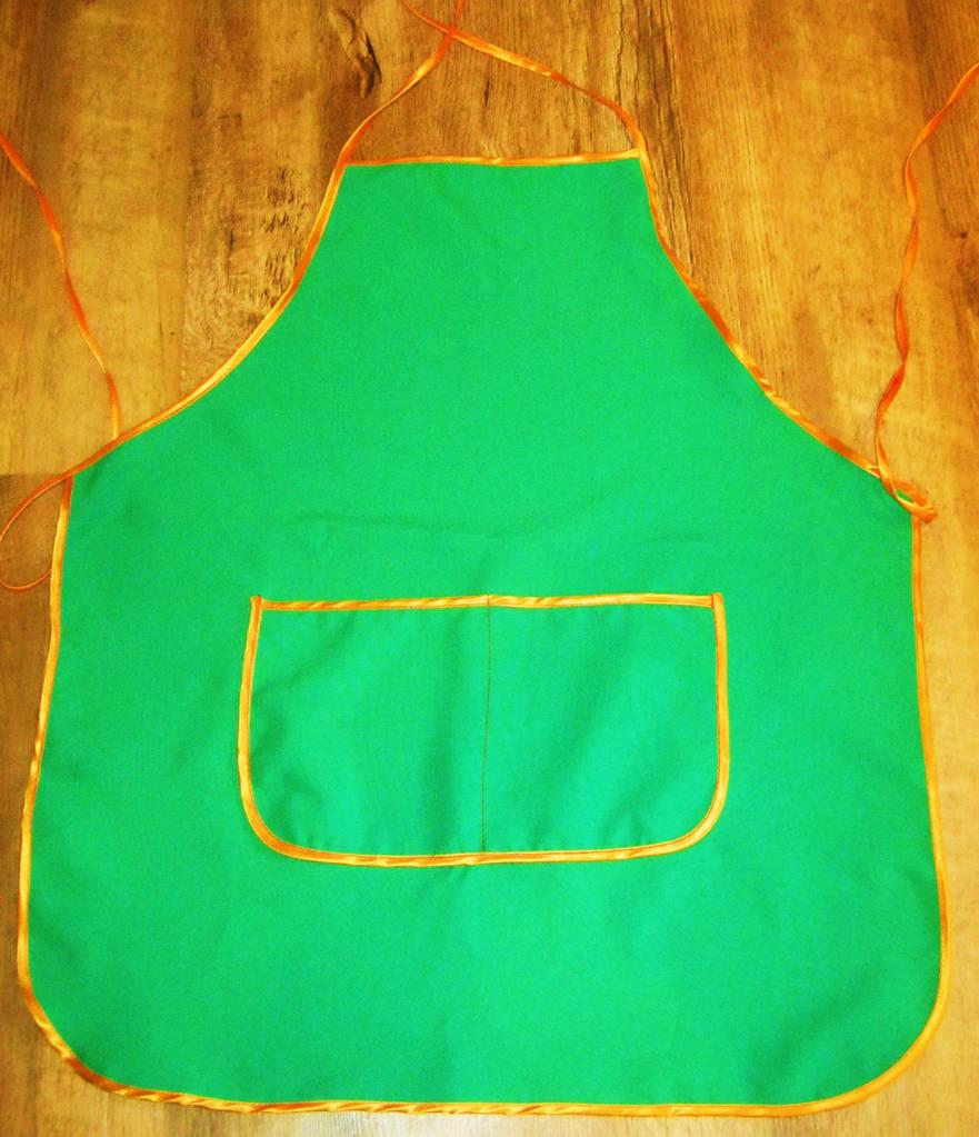 Зеленый фартук женский