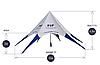 Покупка шатров Звезда, вместительность палаток Звезда