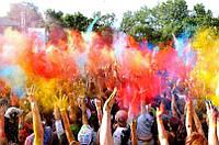 Краски Холи (Гулал), Фарба Холі, набір 10 кольорів по 100 грам, фото 1