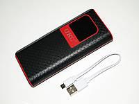 Небольшая зарядка Power Bank UKC 18000 mAh LCD на 3USB. Удобный в использовании внешний аккумулятор. Код:КДН76