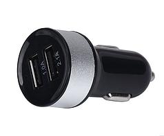 Зарядка USB в прикуриватель на два выхода, автомобильная зарядка usb (черная)