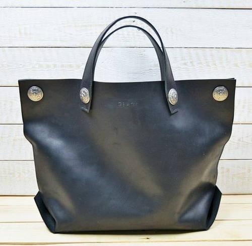 Потрясающая женская сумка-мешок из натуральной кожи GBAGS B.0004-СН черный