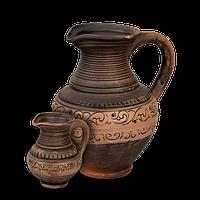Кувшин глиняный Шляхтянский AB01 Покутская керамика 0,25 литра