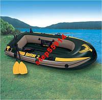 Надувная 2-х местная лодка SeaHawk 2 +Весла+Насос