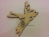Летящая птичка. Декупаж, роспись (заготовка для творчества)