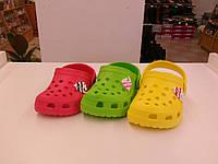 Кроксы (сланцы) для девочек. Размеры 20-34.