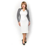 Женское платье с V-образным вырезом большого размера
