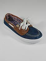 Джинсовые мокасины на шнурках для мальчика B&C Турция размеры 32, 33