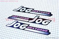 "Наклейки на планшете ""JOG"" розовые 3шт 25х5"