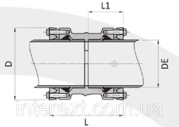 Муфта для ПЕ, ПВХ труб Ду160, фото 2