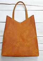 Практичная женская сумка-пакет из натуральной кожи GBAGS B.0005-СН рыжий