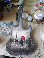 Гитара заготовка для декупажа и росписи