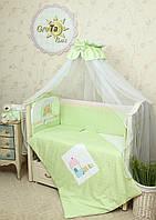 Детское постельное белье в кроватку Клубничка