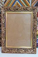 Рамка для картин, икон, фотографий 19,5*22,5 (темное золото), дерево
