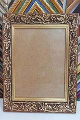 Рамка для картин, икон, фотографий 15,5*19,5 (темное золото), дерево
