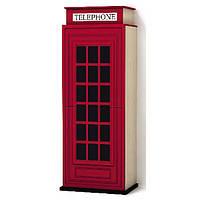 Стильный необычный шкаф телефонная будка для одежды Твист