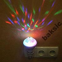 Большая двухрежимная вращающаяся диско лампа,8W