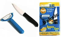 Керамический нож и овощечистка Ceramic Slice Ceram