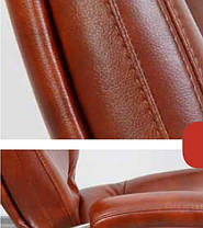 Крісло офісне Марсель хром механізм Tilt шкірозамінник Мадрас Табак (AMF-ТМ), фото 3