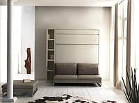 Двуспальная шкаф-кровать с приставным диваном