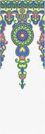 Декор Праздник красок орнамент 25х75