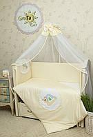 Комплект постельного белья для новорожденных Улитка