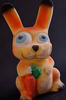 Копилка Кролик, флокированный