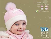 Шапка для девочки TuTu арт.7. 3-000926(50-52,52-54)