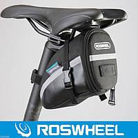 Сумка - бардачок, под седло 1.2 л  черная, Roswheel