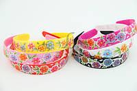 Детский ободок разноцветный с цветочным принтом