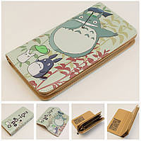 Анимэ Тоторо Totoro Женский кошелек стильный стиль кожа пенал ретро винтаж мода кожаный клатч сумка гаманець