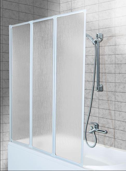 шторка на ванну Aquaform Standart - 3 белый профиль