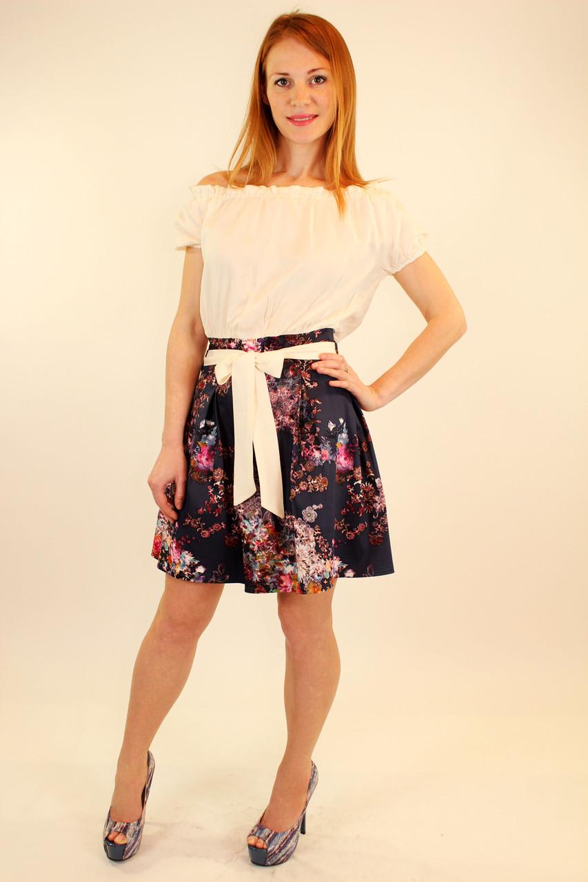 Модное платье 42-48 р ( электрик, беж, коралловый )