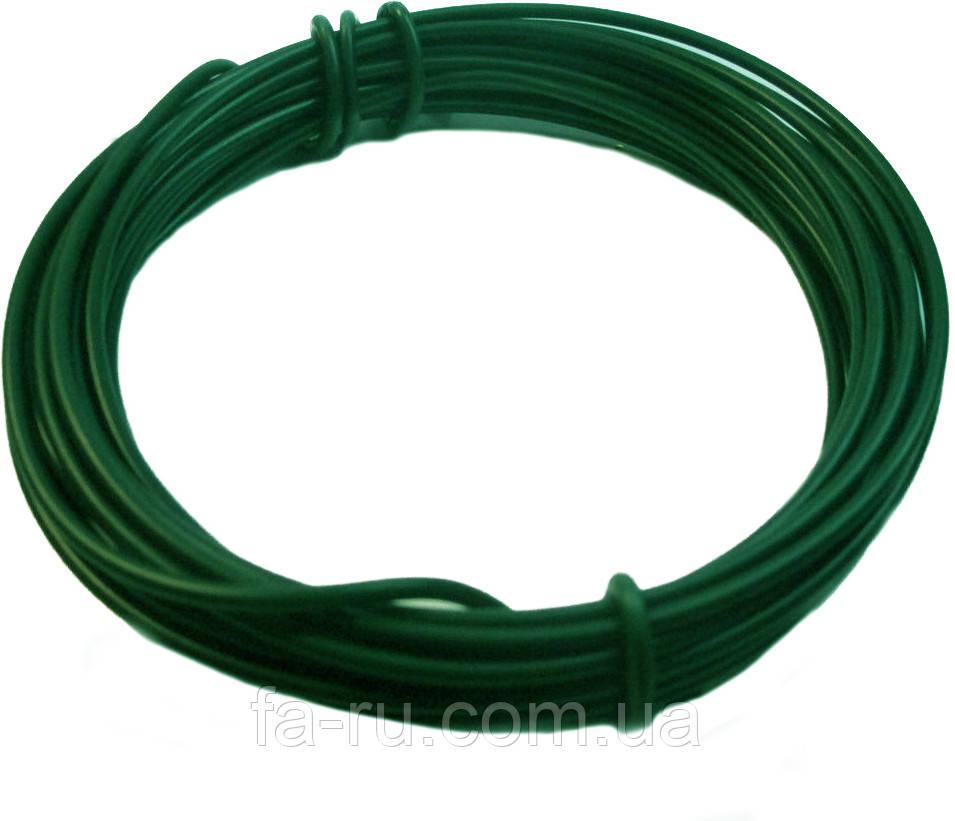 Проволока для рукоделия. Зеленая 1,40 мм 5 метров. МЯГКАЯ