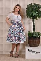 Платье Ева из джинса и поплина (размеры 42-74)