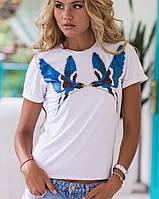 Белая женская футболка | Птицы sk