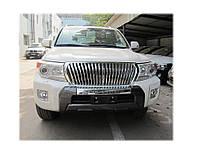 Накладка на передний бампер Toyota Land Cruiser 200 2012-, фото 1