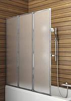 Шторка для ванн Aquaform STANDARD-3 трёх элементная 121х140 профиль хром 170-04000
