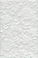 Плитка стена Аджанта цветы 20х30 белый