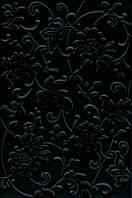 Плитка стена Аджанта цветы 20х30 черный